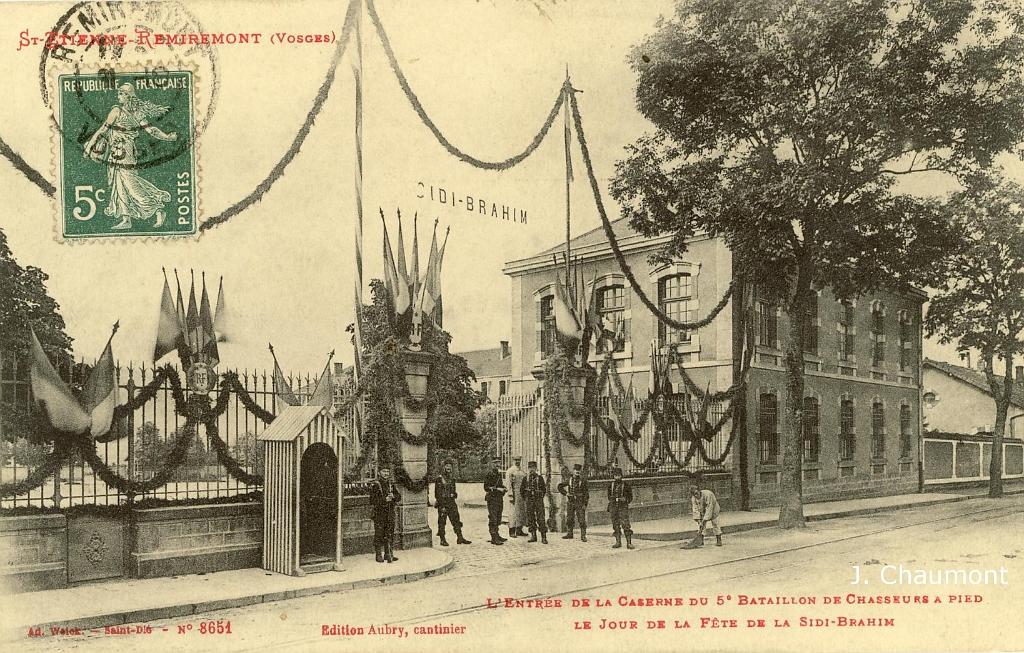 saint etienne les remiremont st etienne remiremont l 39 entr e de la caserne du 5e bataillon de. Black Bedroom Furniture Sets. Home Design Ideas