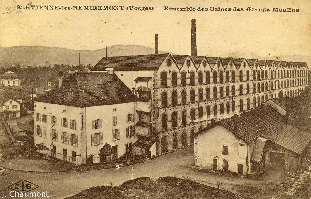 saint etienne les remiremont st etienne l s remiremont ensemble des usines des grands moulins. Black Bedroom Furniture Sets. Home Design Ideas