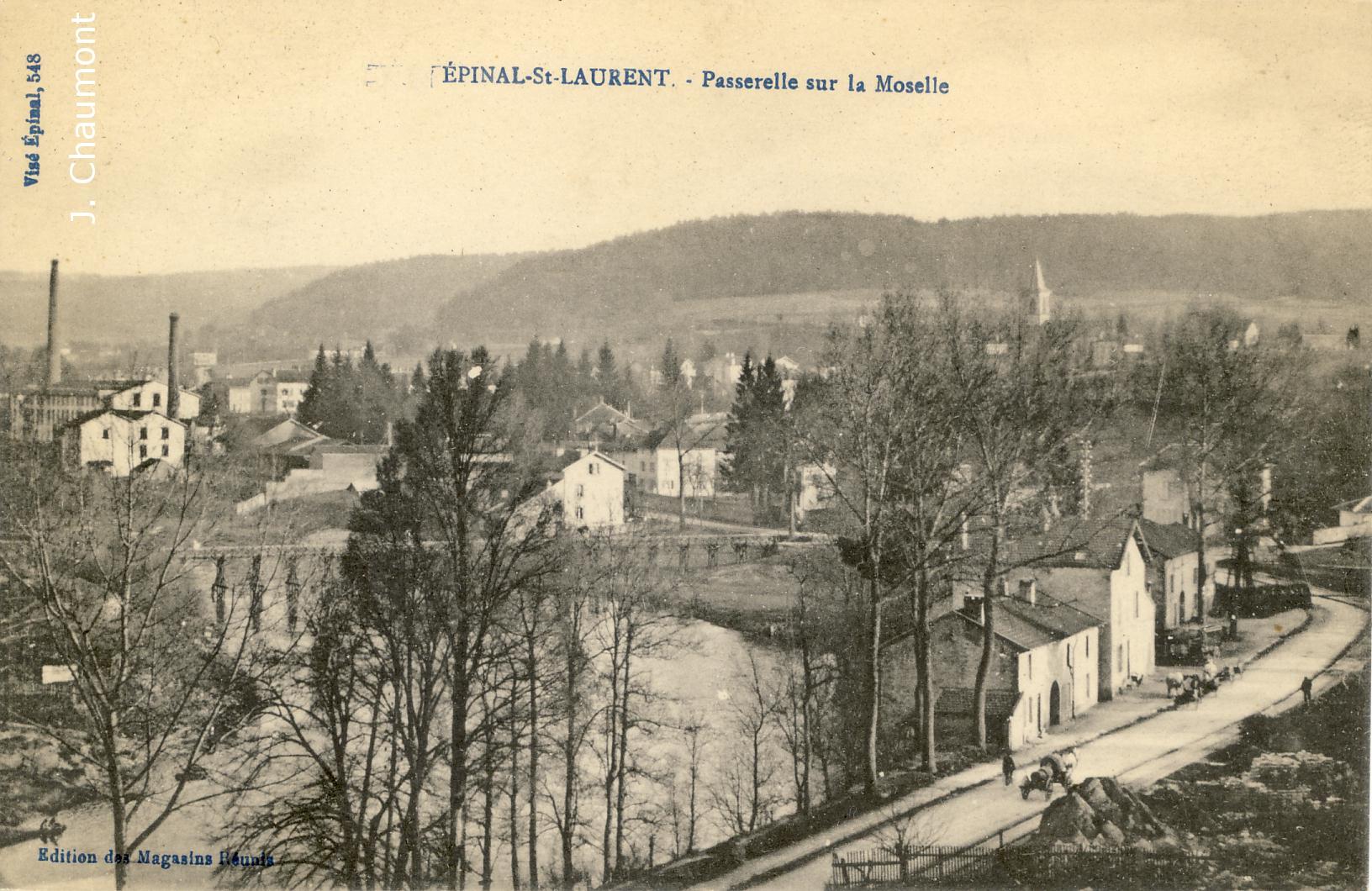 Passerelle sur la Moselle