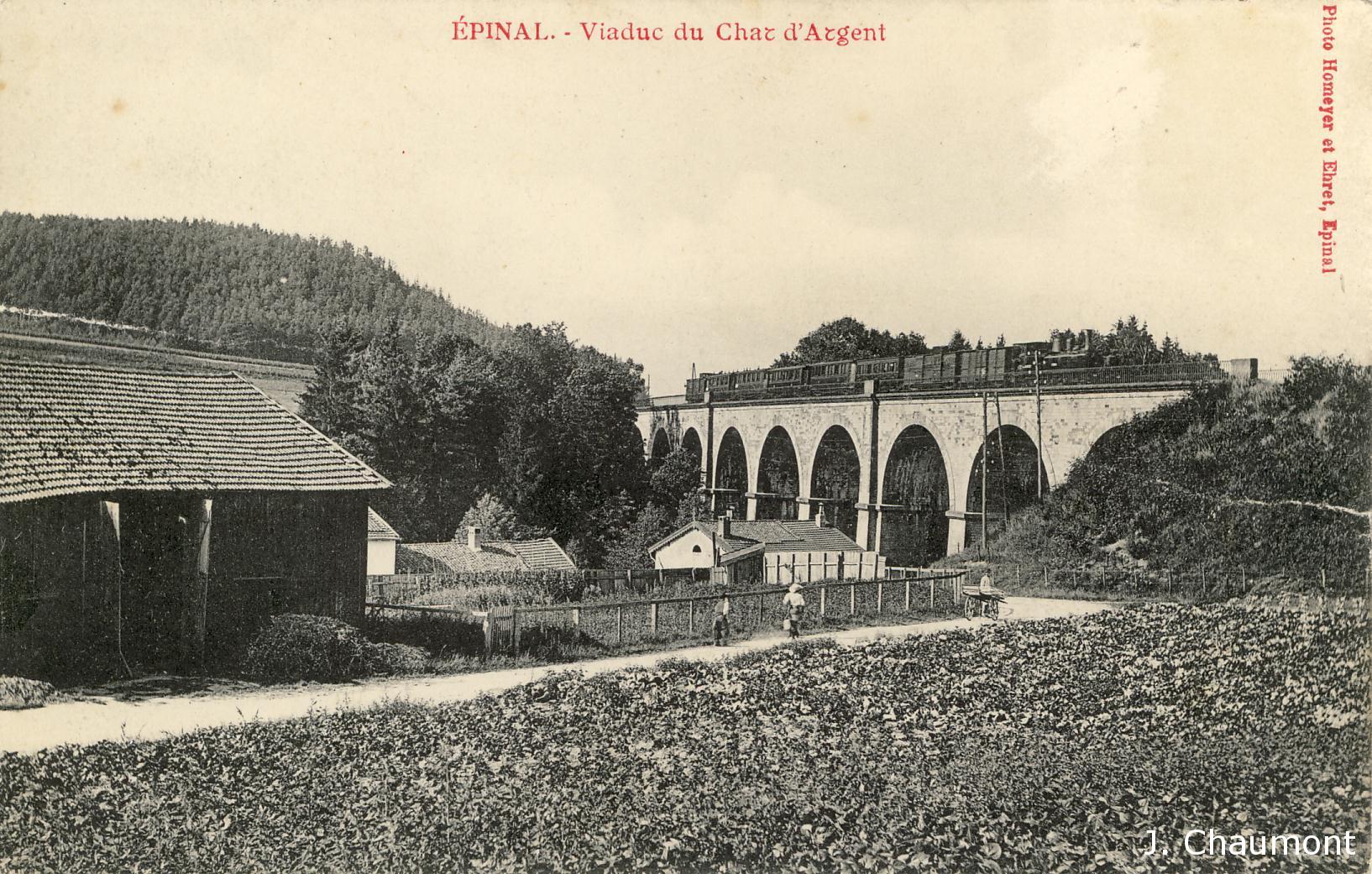 Le Viaduc du Char d'Argent en 1908