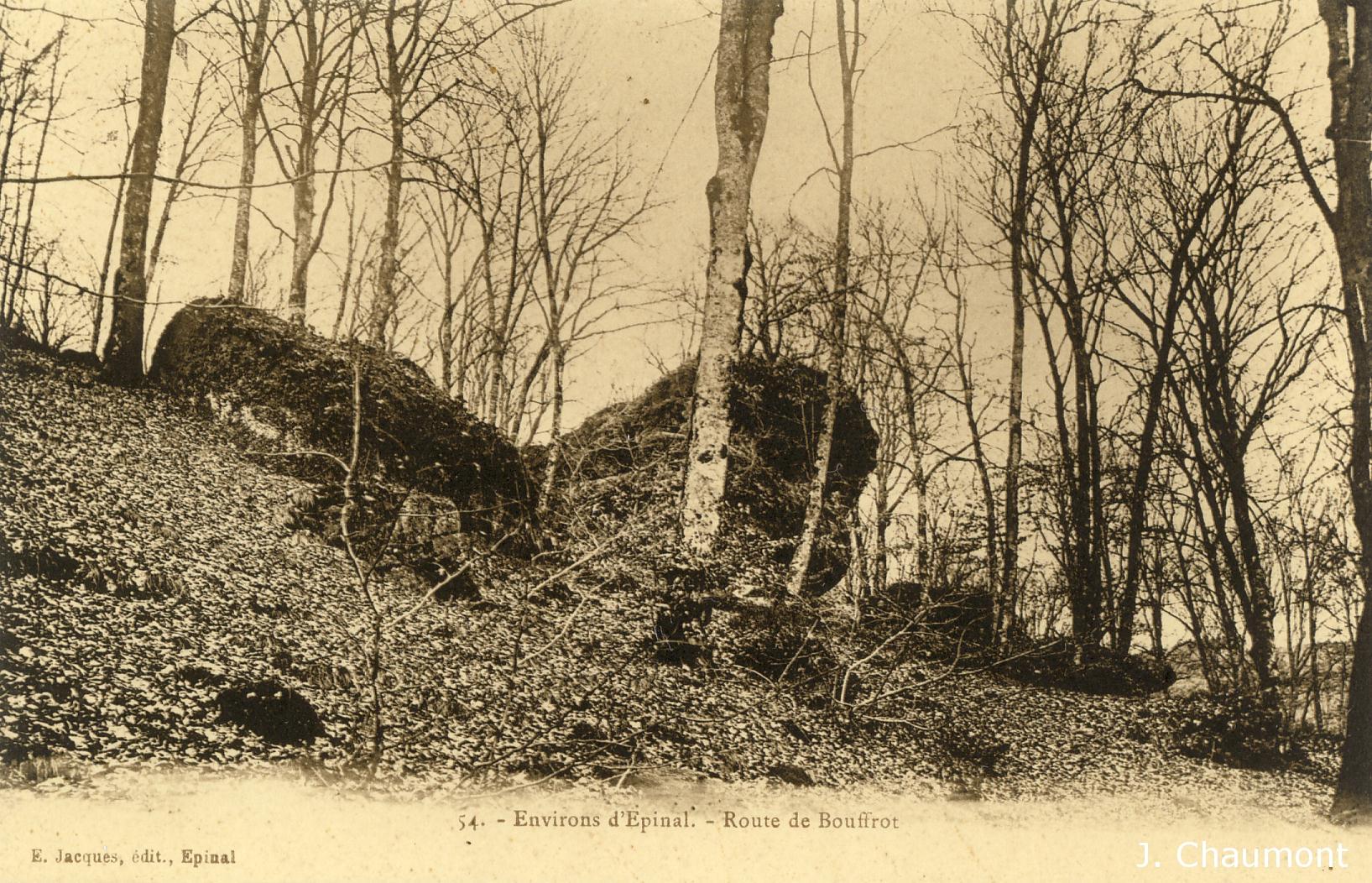 La Route et les Roches de Bouffrot vers 1907