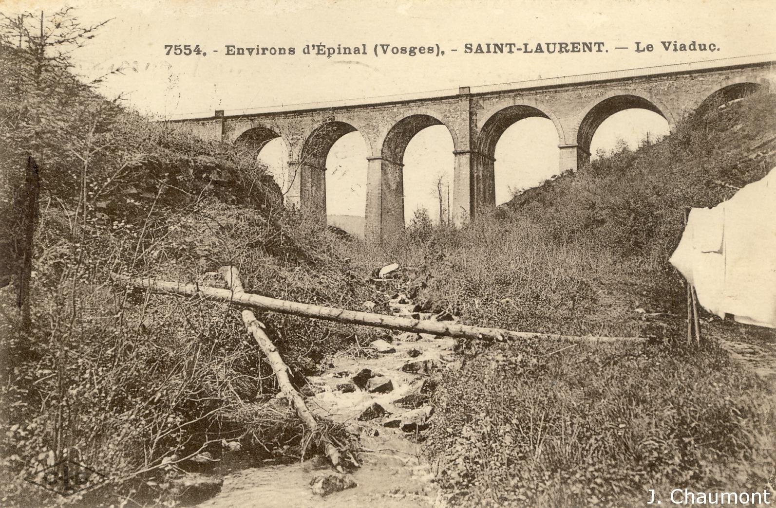 Viaduc de Saint-Laurent dans les années 1920