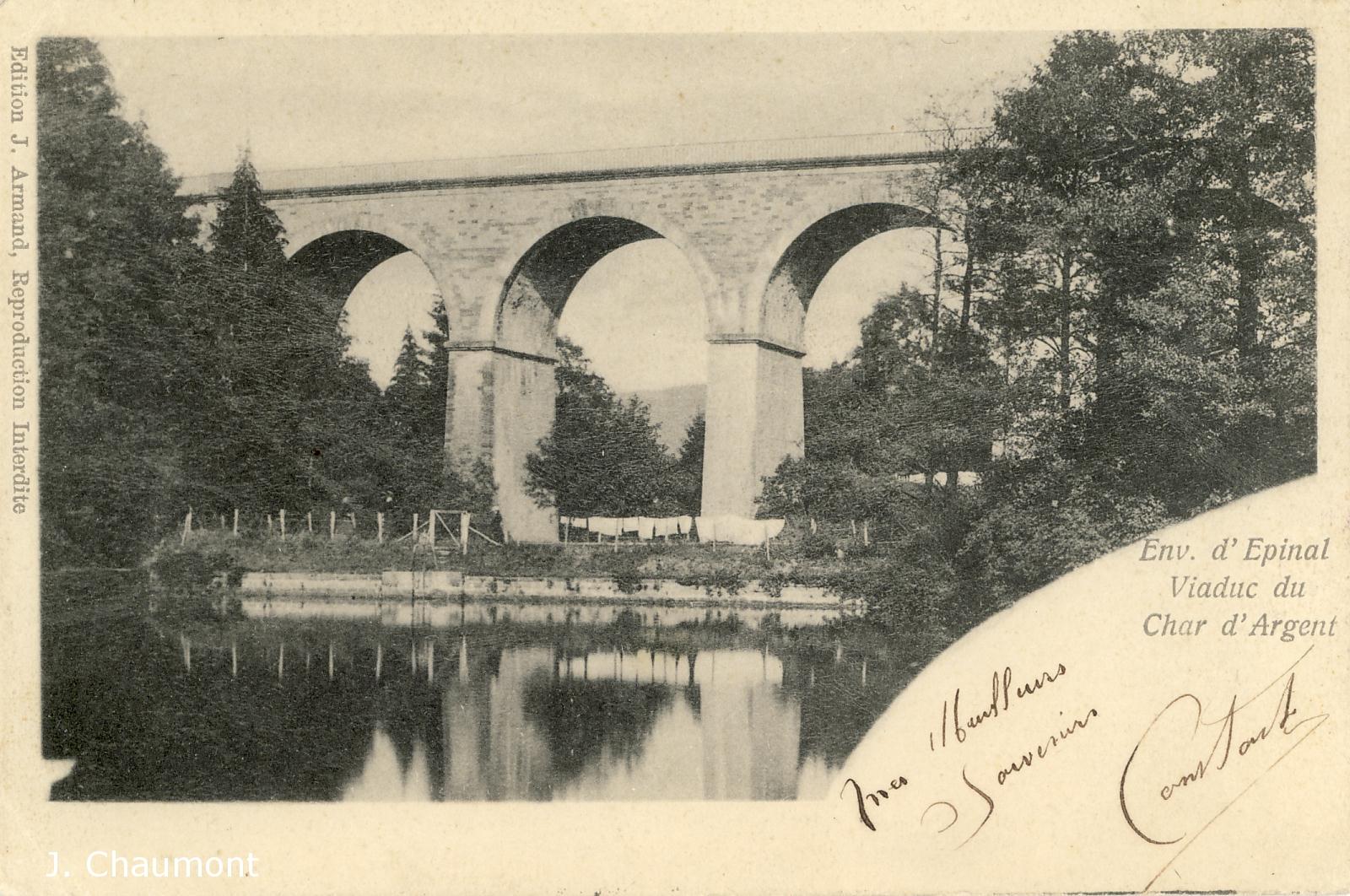 Vue du Viaduc du Char d'Argent en 1903