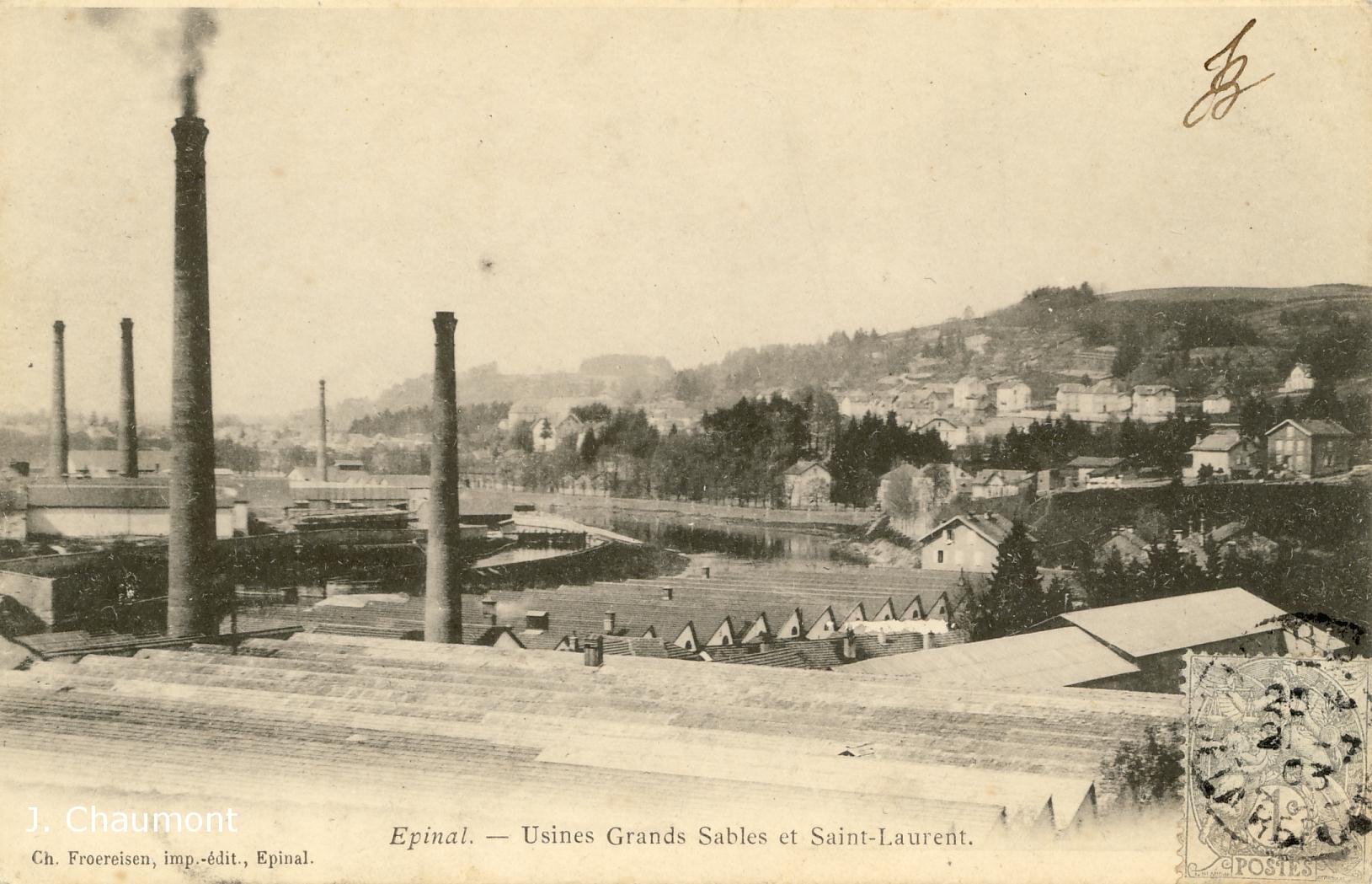 Usines Grands Sables et Saint-Laurent en 1903