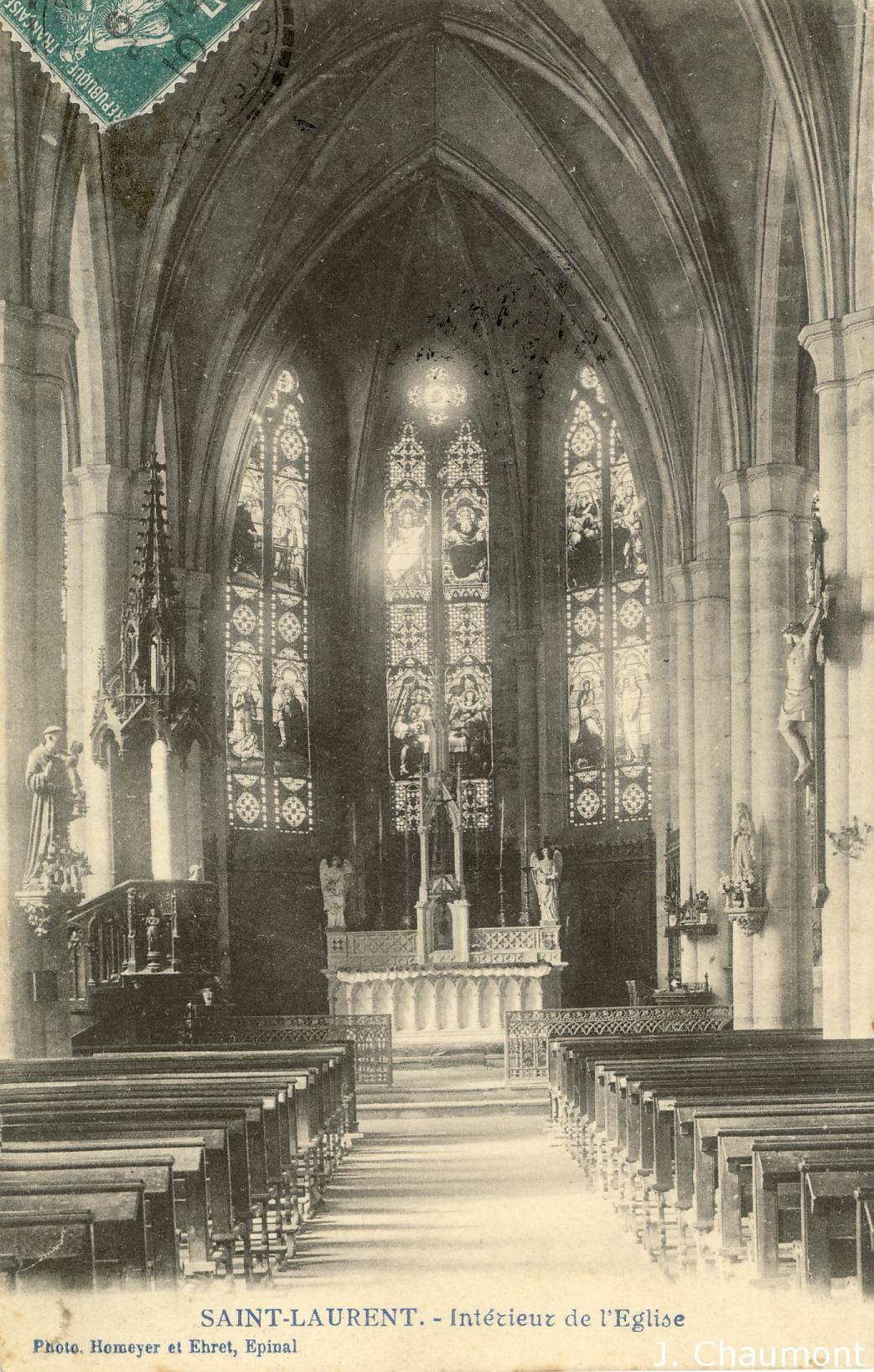 L'Intérieur de l'Eglise de Saint-Laurent en 1910