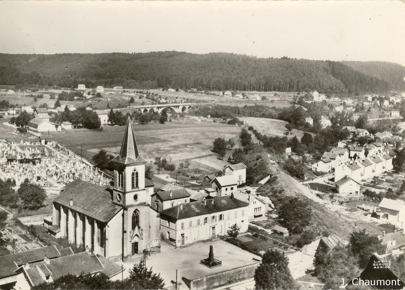 Eglise de Saint-Laurent dans les années 1950