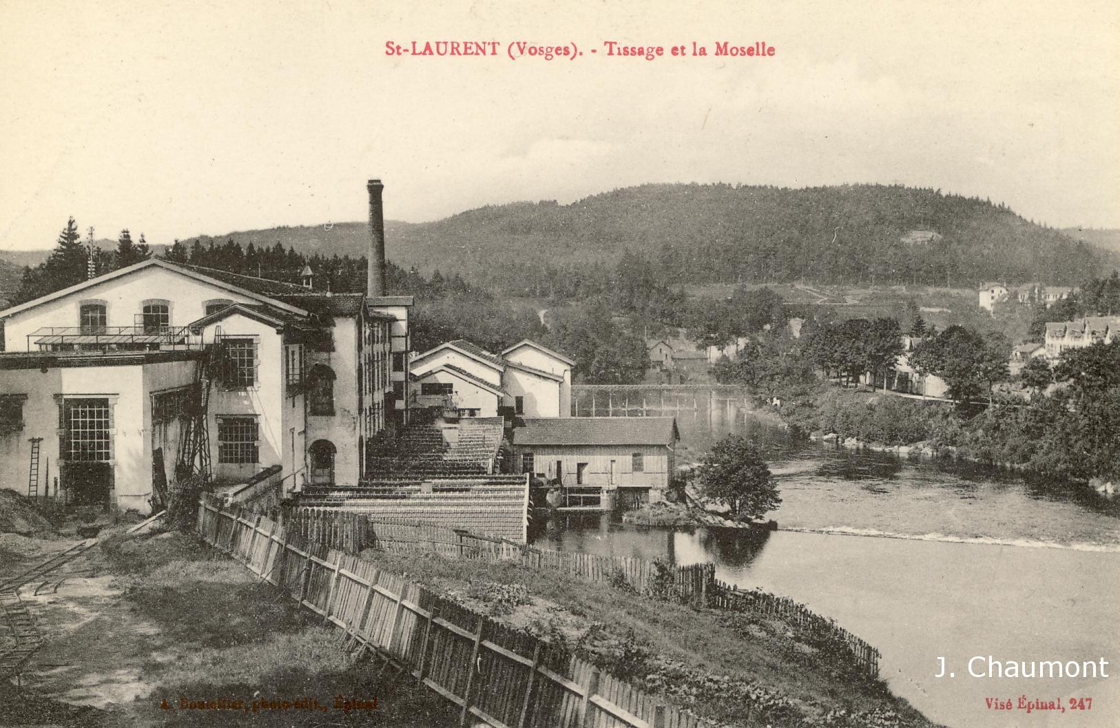 Le Tissage et la Moselle en 1917
